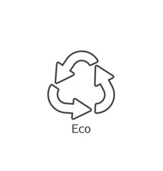 eco frendly concept arrows icon ecology recycling vector image