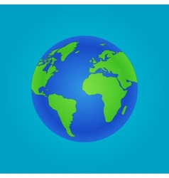 Isolated Globe icon and green map vector image vector image