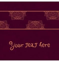 Vintage invitation card on red grunge background vector image
