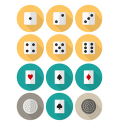 board and card games flat icon set vector image