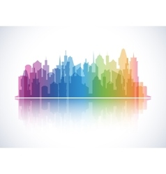 Cityscape colorful background Skyline silhouette vector image vector image