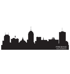 Fresno California skyline Detailed silhouette vector image vector image