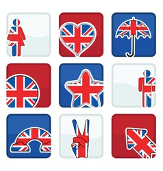 great britain icons vector image vector image