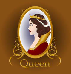 medieval queen vector image
