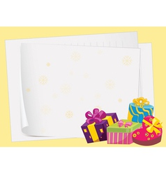 paper sheets and gift boxes vector image vector image