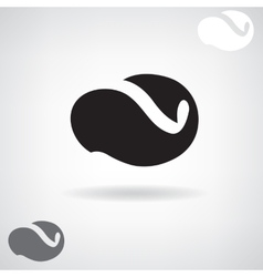 Stylized black silhouette of a whale vector image vector image