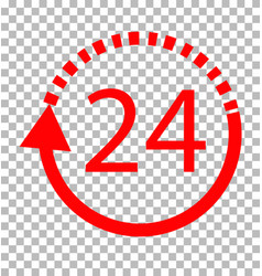 24 hours delivery on transparent background 24 vector image