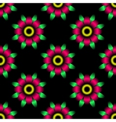 Abstract flower seamless pattern vector image