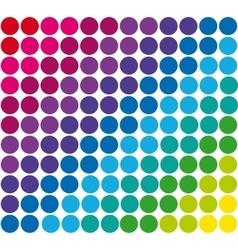 Abstract geometric retro pattern seamless Polka vector image