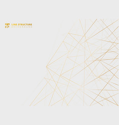 abstract overlap gold lines structure on white vector image