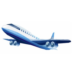 airplane model modelabove object vector image