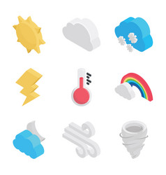 Atmospheric conditions icons vector