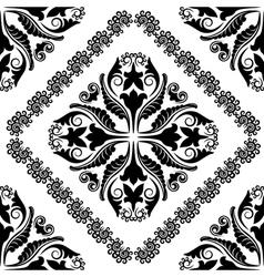 baroque ornaments vector image