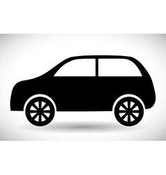 Black car icon Transportation design vector