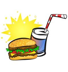 Burger and soda vector