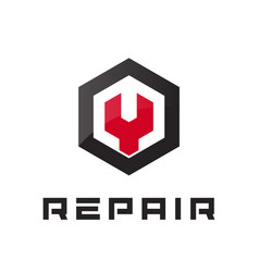car repair icon auto service logo concept flat vector image