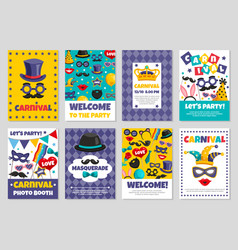 carnival party banners vector image