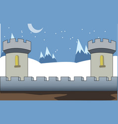 Castle 2d game background vector