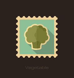 Cauliflower flat stamp vegetable vector