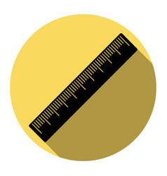 centimeter ruler sign flat black icon vector image