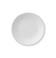 Clean white Plate realistic Mockup vector image