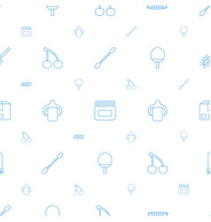 Closeup icons pattern seamless white background vector