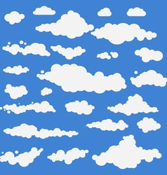 Clouds collection set blue vector