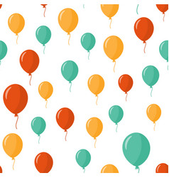 Colorful balloons seamless pattern over white vector
