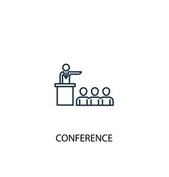 conference concept line icon simple element vector image