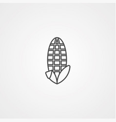 corn icon sign symbol vector image