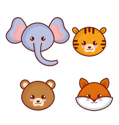 Cute and little animals characters vector