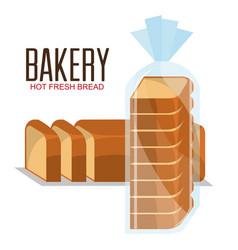 Delicious bread product icon vector
