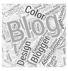 Design Elements Of A Blog Word Cloud Concept vector