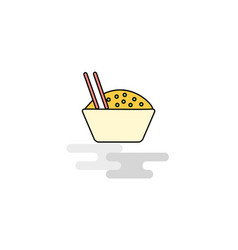 flat food bowl icon vector image