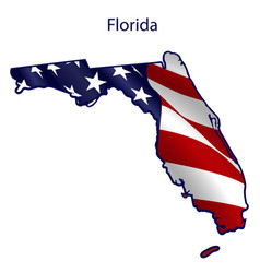 florida full american flag waving in wind vector image