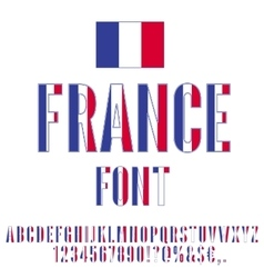 France flag font vector