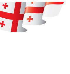Georgia flag on a white vector