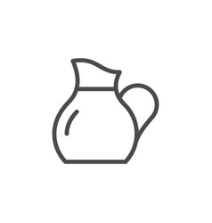 Glass jug line outline icon vector