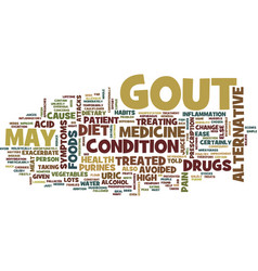 gout treated with alternative medicine text vector image