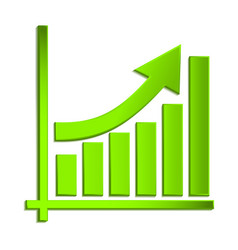 growing business arrow on diagram growth vector image