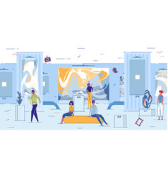 Guest experience in virtual reality attraction vector