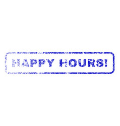 Happy hours exclamation rubber stamp vector