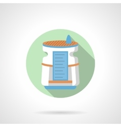 Home air dehumidifier flat color round icon vector image