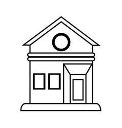 house facade silhouette vector image