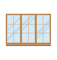 House windows elements flat style glass frames vector