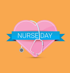 international nurse day label vector image