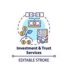Investment and trust services concept icon vector
