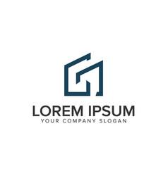 letter g minimalist real estate logo design vector image