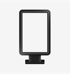light box - realistic mockup vector image