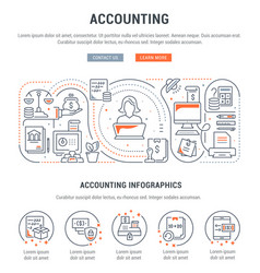 Linear banner accounting vector